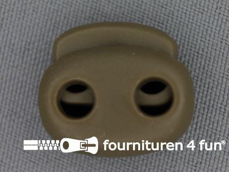 Koord stopper 21mm dubbel beige