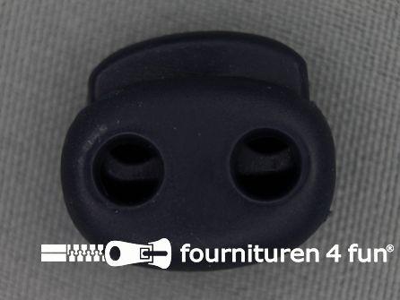 Koord stopper 21mm dubbel donker blauw