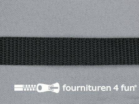 Halsband uni colour 15mm zwart