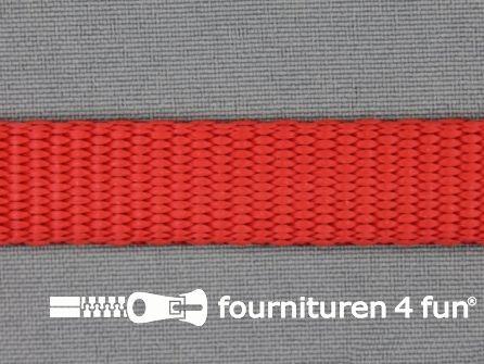 Halsband uni colour 20mm rood