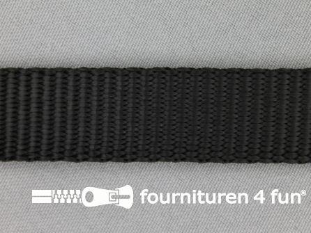 Halsband uni colour 20mm zwart