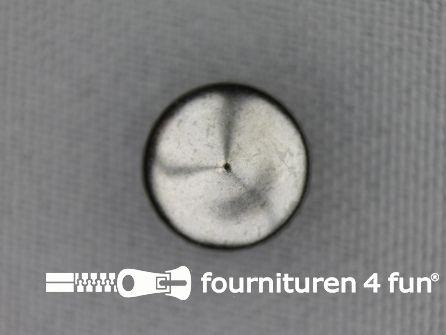 Studs 10mm bol spits zwart zilver 50 stuks