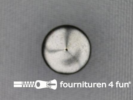 Studs 10mm bol rond zwart zilver 50 stuks