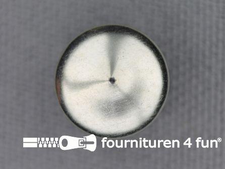 Studs 12mm bol rond chroom 50 stuks