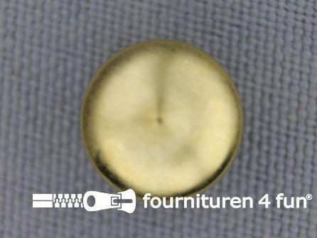 Studs 12mm bol rond goud 50 stuks