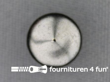 Studs 12mm bol rond zwart zilver 50 stuks