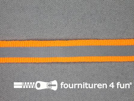 Reflecterende band 10mm neon oranje