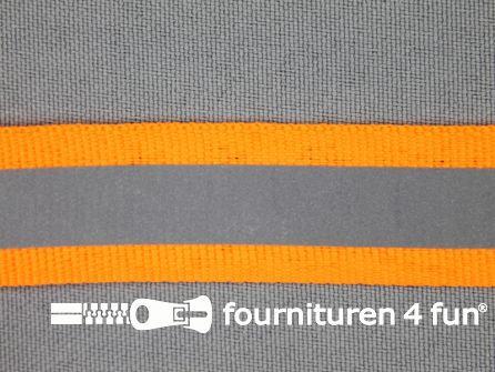 Reflecterende band 20mm neon oranje