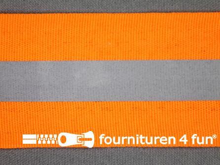 Reflecterende band 50mm neon oranje