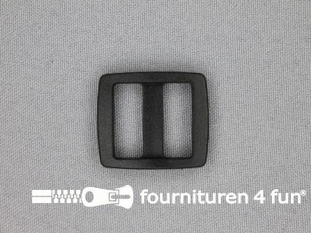 Schuifgesp 20mm zwart kunststof