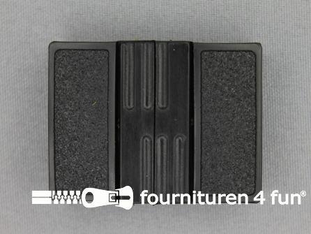 Inhaakgesp 30mm kunststof zwart