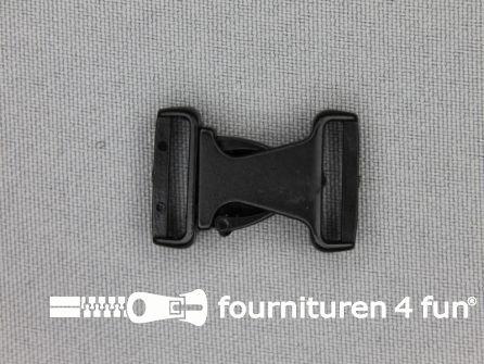 Parachute gesp (mini) 15mm zwart