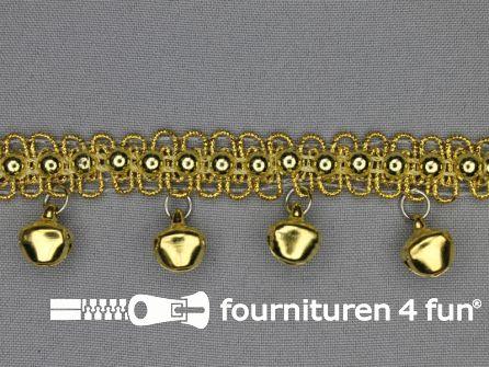 Belletjes band 30mm goud