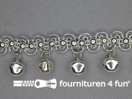Belletjes band 30mm zilver