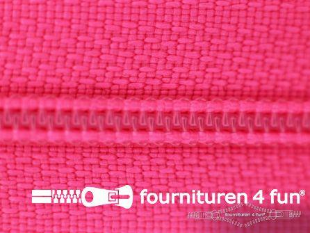 Niet deelbare nylon rits 3mm fel roze