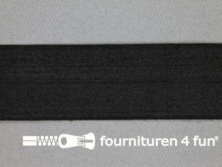 Elastische biasband 32mm zwart