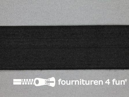 Rol 25 meter elastische biasband 32mm zwart