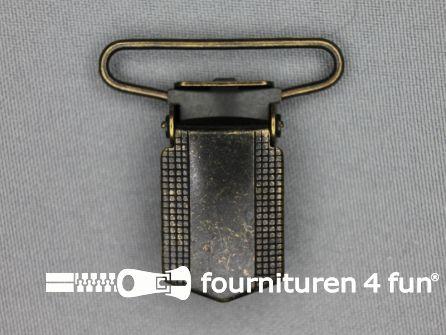 Bretelclips 36mm brons