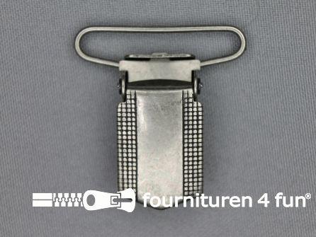 Bretelclips 36mm antiek zilver