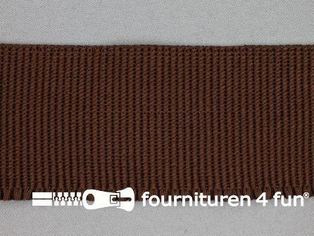 Boordelastiek 60mm bruin