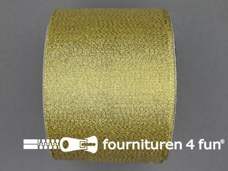 Goud lint 64mm 25 meter