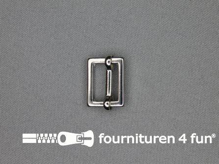 Schuifgesp 15mm zilver