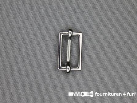 Schuifgesp 20mm zilver