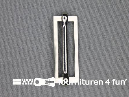 Schuifgesp 38mm zilver