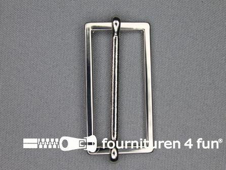 Schuifgesp 45mm zilver