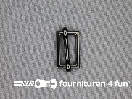 Schuifgesp 20mm zwart zilver