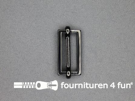 Schuifgesp 25mm zwart zilver