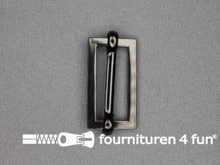 Schuifgesp 30mm zwart zilver