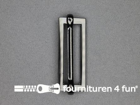 Schuifgesp 38mm zwart zilver