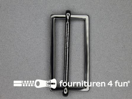 Schuifgesp 45mm zwart zilver