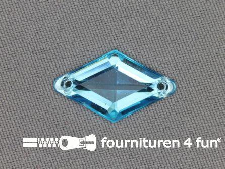 10 stuks Strass steen 14x25mm ruit aqua blauw