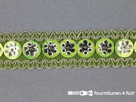 Party band 22mm lime groen