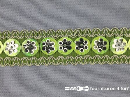 100 meter party band 22mm lime groen