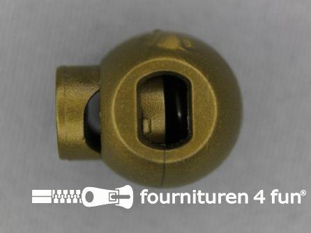 Koord stopper 18mm bal brons