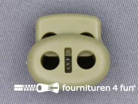 Koord stopper 22mm dubbel khaki beige