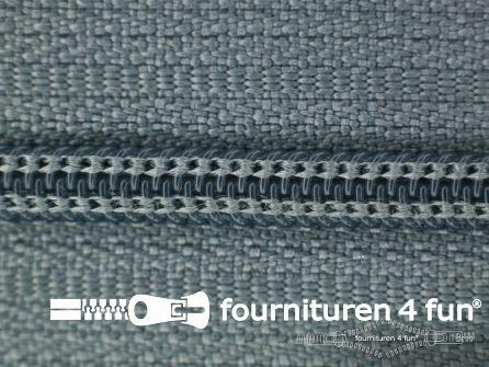 Niet deelbare nylon rits 3mm muisgrijs