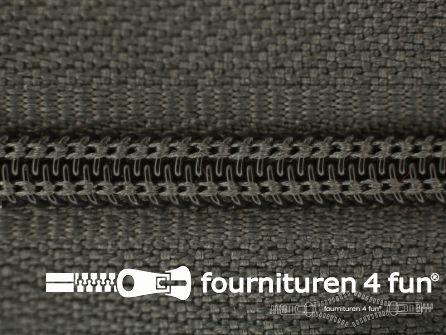 Niet deelbare nylon rits 3mm modder grijs