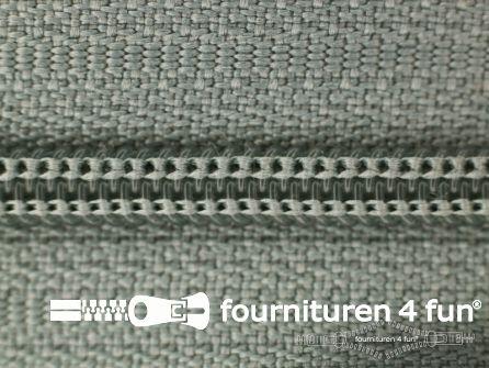 Niet deelbare nylon rits 3mm midden grijs