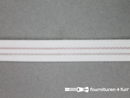 Rol 20 meter baleinenband 10mm kunststof wit