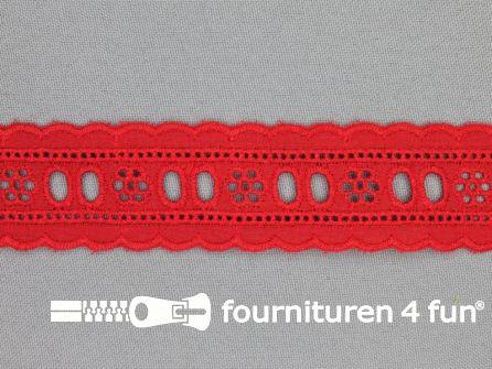 Broderie kant entredeux 30mm rood
