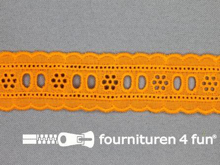 Broderie kant entredeux 30mm oranje