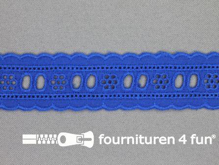 Broderie kant entredeux 30mm kobalt blauw
