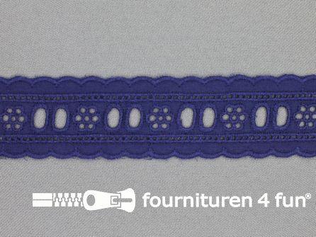 Broderie kant entredeux 30mm donker blauw