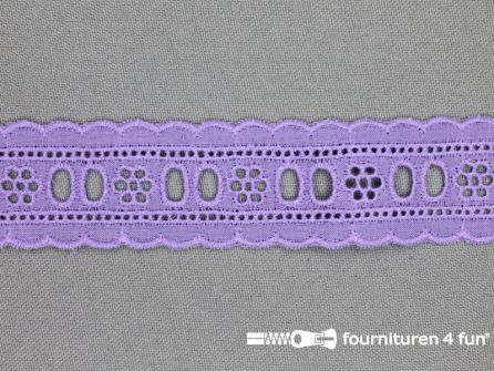 Broderie kant entredeux 30mm lila