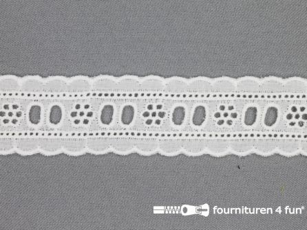 Broderie kant entredeux 30mm off white
