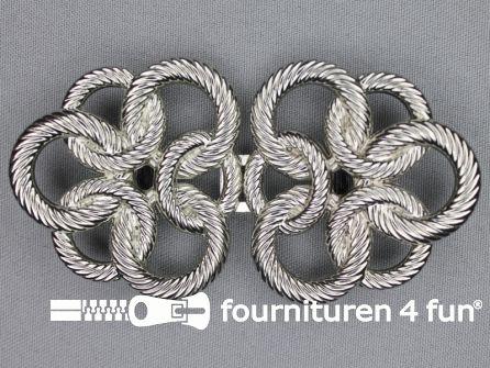 Inhaakgesp 37mm zilver
